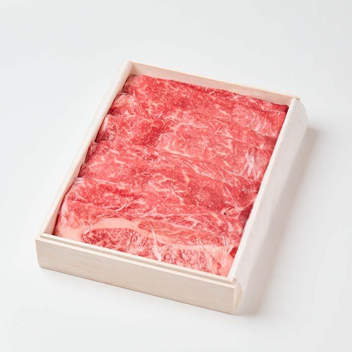 【贈答用木箱入り】美笑牛モモすき焼き用 600g