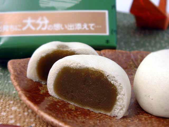 大分佐伯銘菓 出雲堂 【挽茶饅頭24個入】