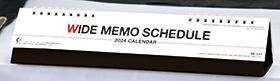 名入れ卓上カレンダー2022年 『NK-537 ワイドメモ スケジュール』