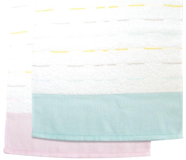 色鮮やかなボーダー織が人気!(日本製)240匁マルチラインタオルポり袋入り1ダース(12枚)