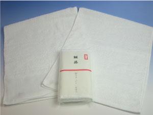 フェイスタオルにオススメ!(ベトナム製)180匁純白タオルポり袋入り1ダース(12枚)