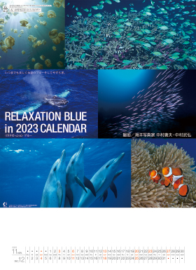 名入れカレンダー2018年『NK-32 リラクゼーション ブルー』