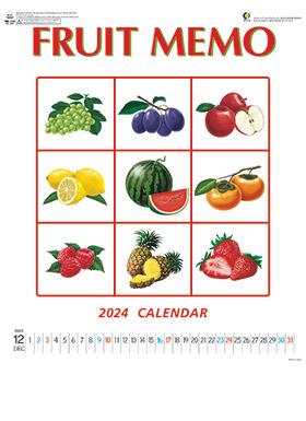 カレンダー 2018年家庭用 (小売)『NK-444 フルーツメモカレンダー』