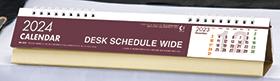 名入れ卓上カレンダー2022年 『NK-535 デスクスケジュール・ワイド』
