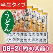 半生うどん10袋+麺つゆ【OB-2】