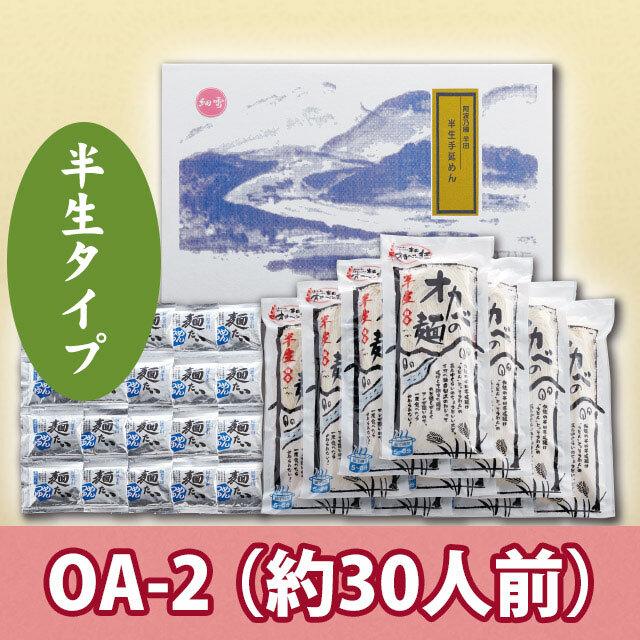 半田手延めん「半生細雪」30人前+濃縮つゆ20袋【OA-2】