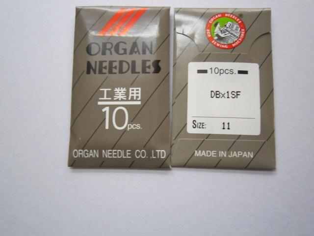DB×1SF 工業用本縫いミシン針 超ファインゲージニット用【メール便可】