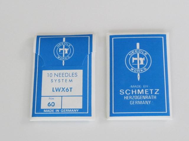 LW×6T 工業用ミシン針 まつり、スクイ縫い用 シュミッツ【メール便可】