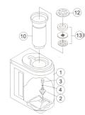 ナオモト PS-2 卓上ポンプ用樹脂容器本体