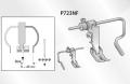 スイセイ 左右ガイド付自由ステッチ押え金(針送りミシン用)P723NF【メール便可】