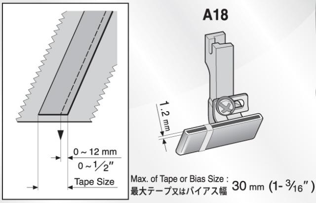 スイセイ 地縫い押え金 A18
