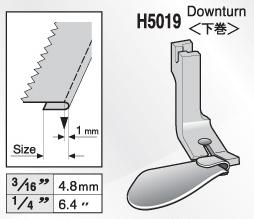 スイセイ H5019  端縫い二ツ巻押え金(下巻)【メール便可】
