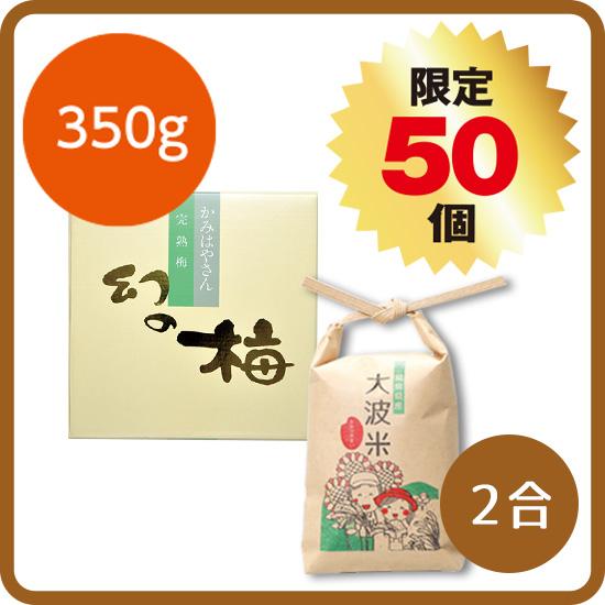 【送料無料】大波米セット<1>(大波米2合+幻の梅350g)