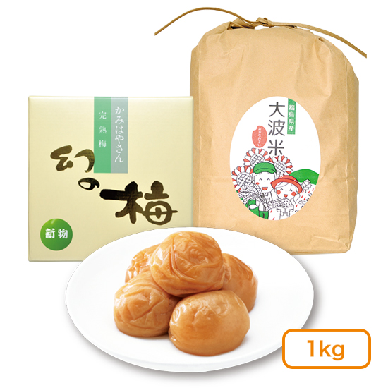 【送料無料/予約販売:11月お届け】新梅・新米セット(梅干1kg)