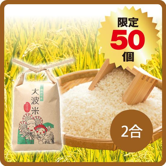 大波米(2020年産)2合 ※白米/玄米選択可