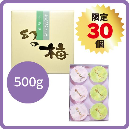 【送料無料】串本儀平の水ようかんセット2(お好きな梅干500g)