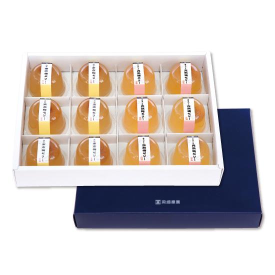 梅ゼリー2種セット(まるごと完熟梅+完熟南高梅)化粧箱入り12個セット
