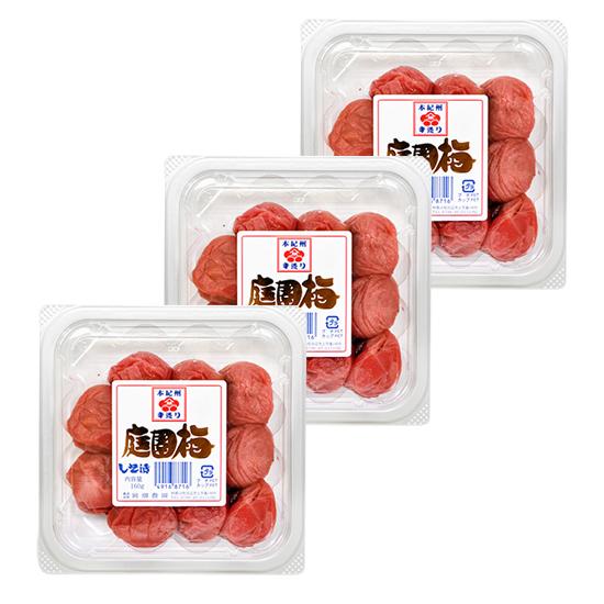 庭園梅しそ漬 エコパック160g×3(粒2L) <塩分12%> ※包装不可