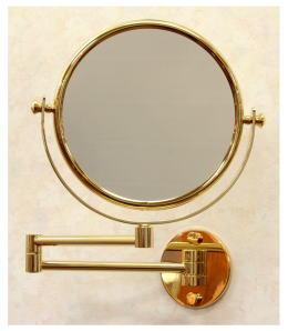 鏡 拡大鏡 ミラー 2倍率 品番.Wi141ゴールド2X アームミラー スイングミラー