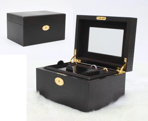 ジュエリーボックス wo9330-06 本革ジュエリーボックス