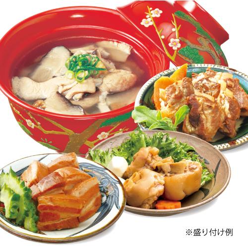 調理例(ラフテー・テビチ・中味汁・軟骨ソーキ)