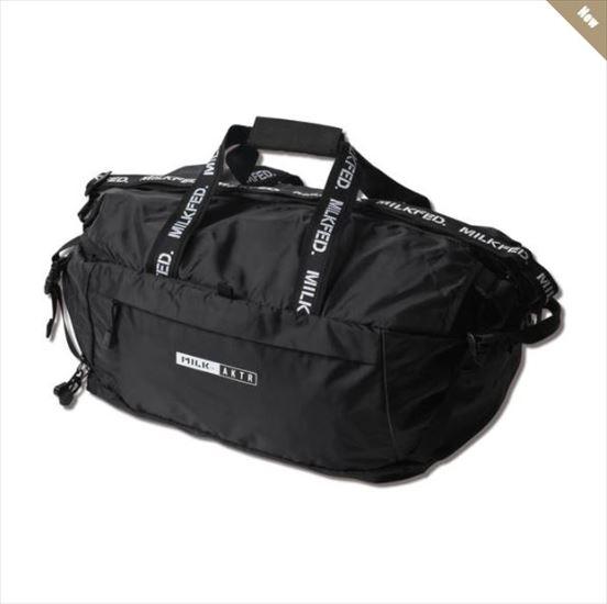 121-070022-bk / AKTR / アクター / ボストンバッグ / xMILKFED. NYLON BOSTON BAG BLACK