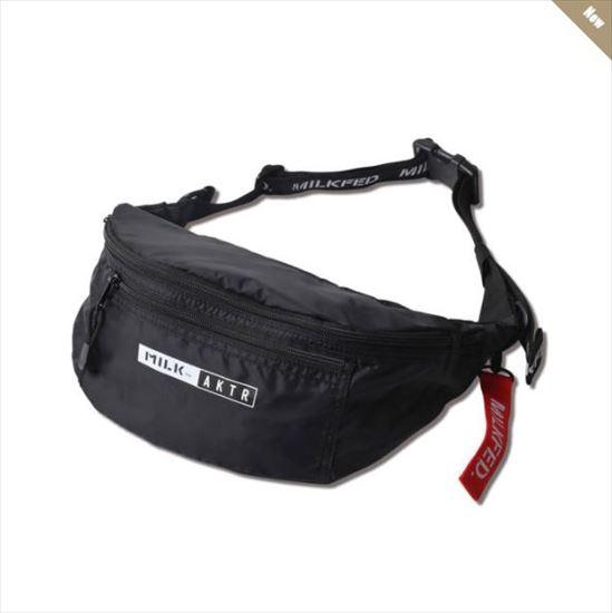 121-071022-bk / AKTR / アクター / ボディバッグ / xMILKFED. BODY BAG BLACK