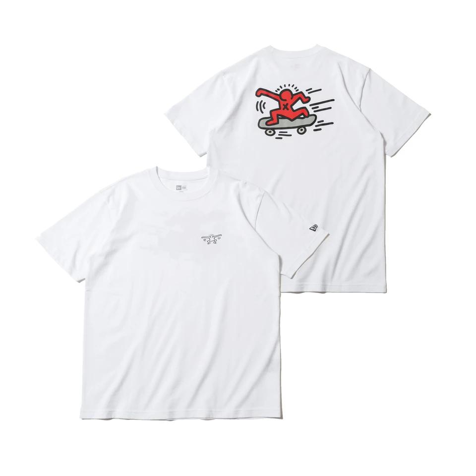 12674197 / NEW ERA / ニューエラ / 半袖 / コットン Tシャツ / レギュラーフィット / Keith Haring / キース・へリング / スケートボード