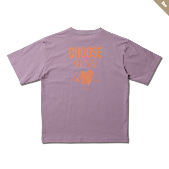 221-065005pl / AKTR / POWER NICK TEE / CHOOSE YOURSELF / アクター / Tシャツ / PURPLE / パープル