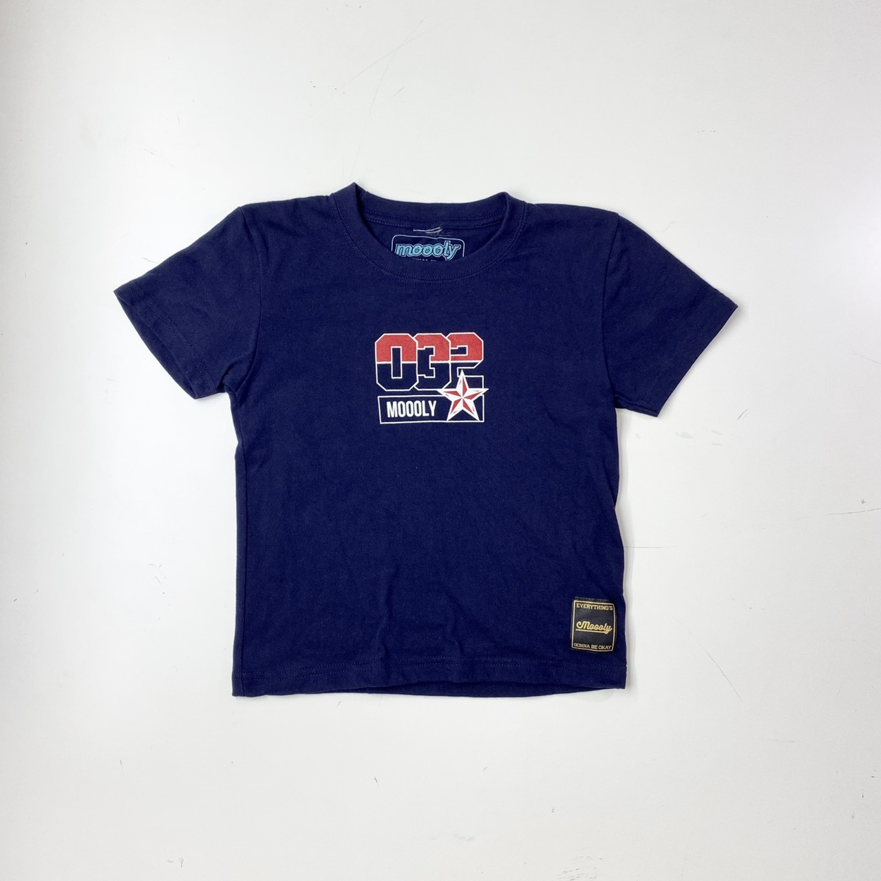 MLYBABYTS-2002-NVY / Moooly / モーリー / 山内 盛久 /ベイビー Tシャツ