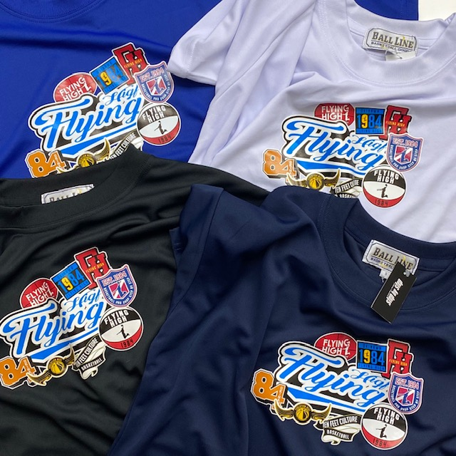 FHT-2104 /【2021春夏新作】 / FLYING HIGH / フライングハイ / 当店限定商品 / BALL LINE(ボールライン)×STEP BY STEP  / Tシャツ / エンブレム