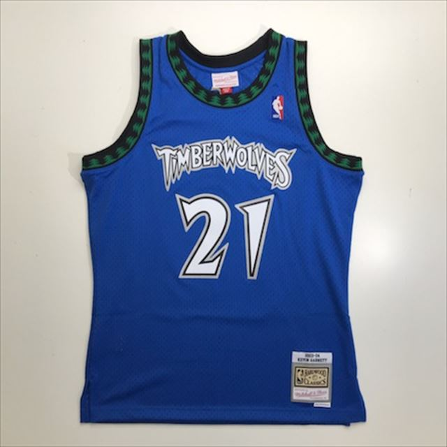 MN4KJT66 / Mitchell & Ness / ミネソタ・ティンバーウルブズ / Minnesota Timberwolves /  NBA / スウィングマンジャージ KG / ロイヤル