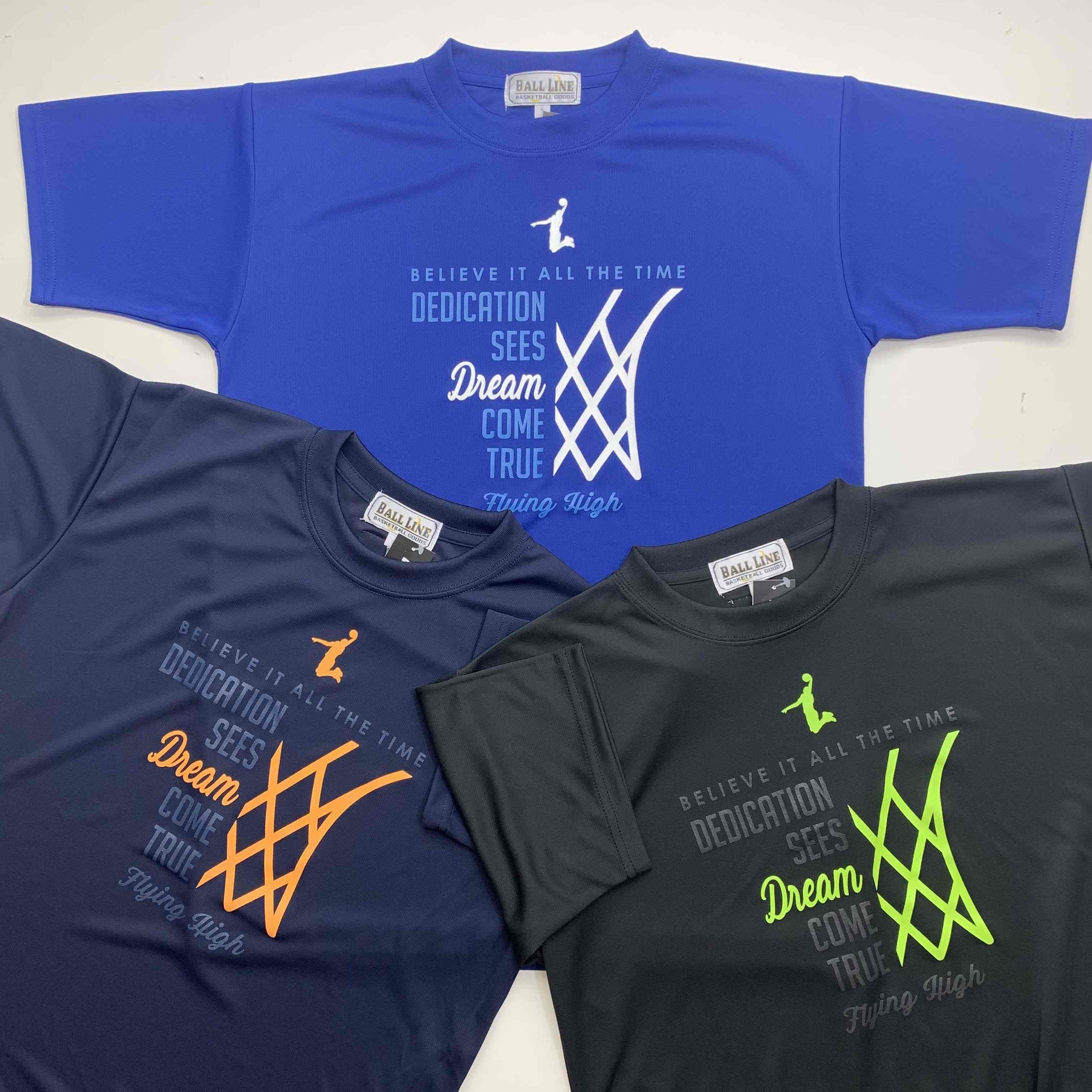 FHT-2110 /【2021春夏新作】 / FLYING HIGH / フライングハイ / 当店限定商品 / BALL LINE(ボールライン)×STEP BY STEP / Tシャツ