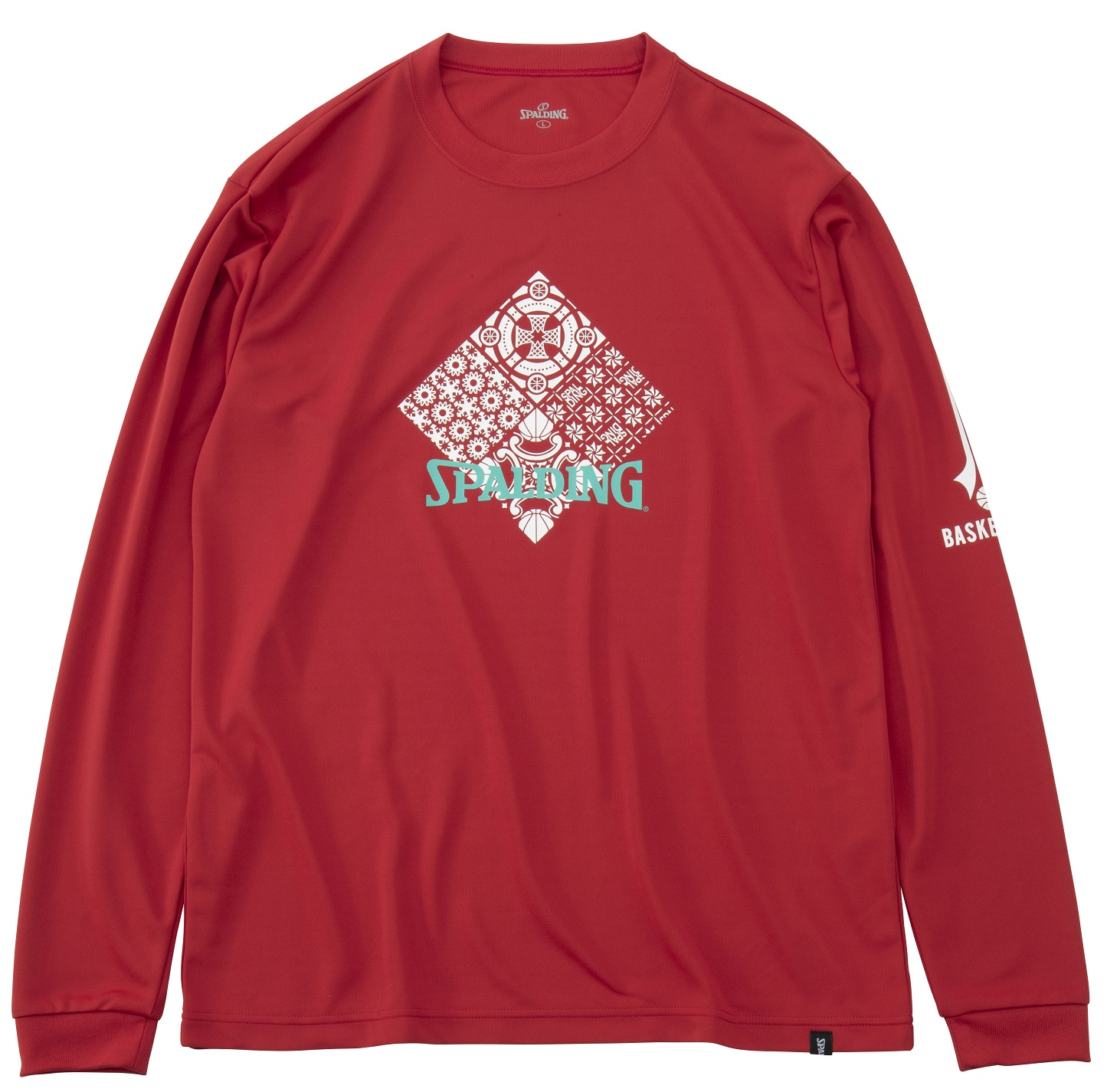 SMT191240 / SPALDING ロングスリーブ Tシャツ / スカンジナビアン / バスケットボール / スポルディング
