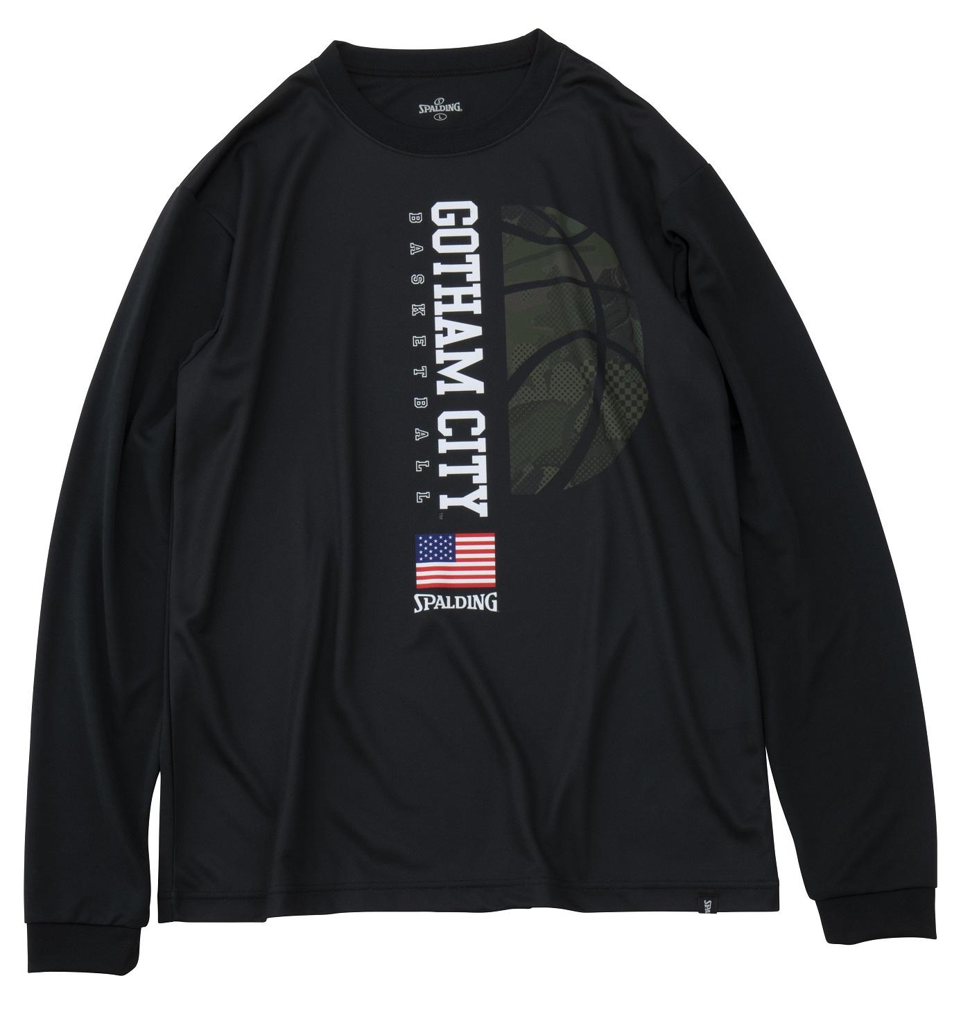 SMT191350 / SPALDING ロングスリーブ Tシャツ / ゴッサムシティーボール / バスケットボール / スポルディング