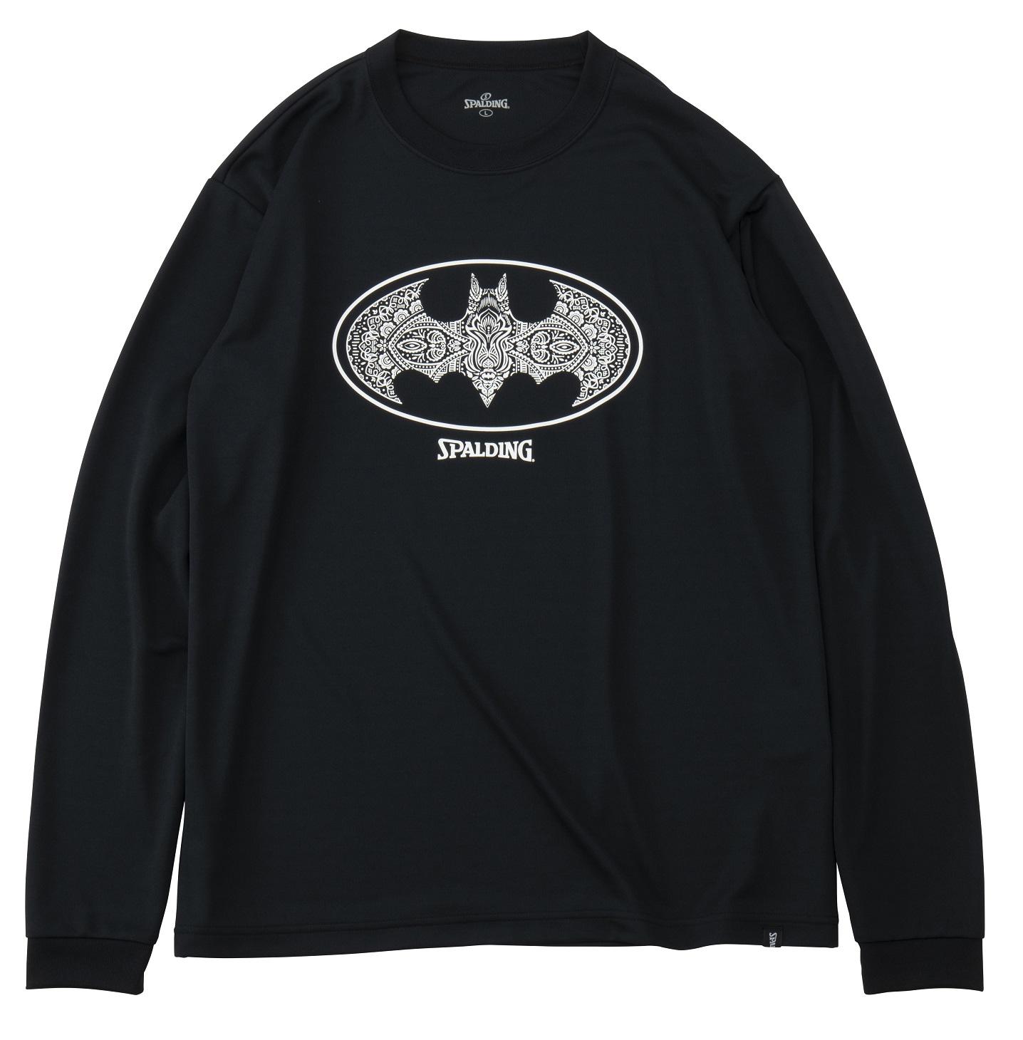 SMT191360 / SPALDING ロングスリーブ Tシャツ / バットマン ダマスクロゴ / バスケットボール / スポルディング