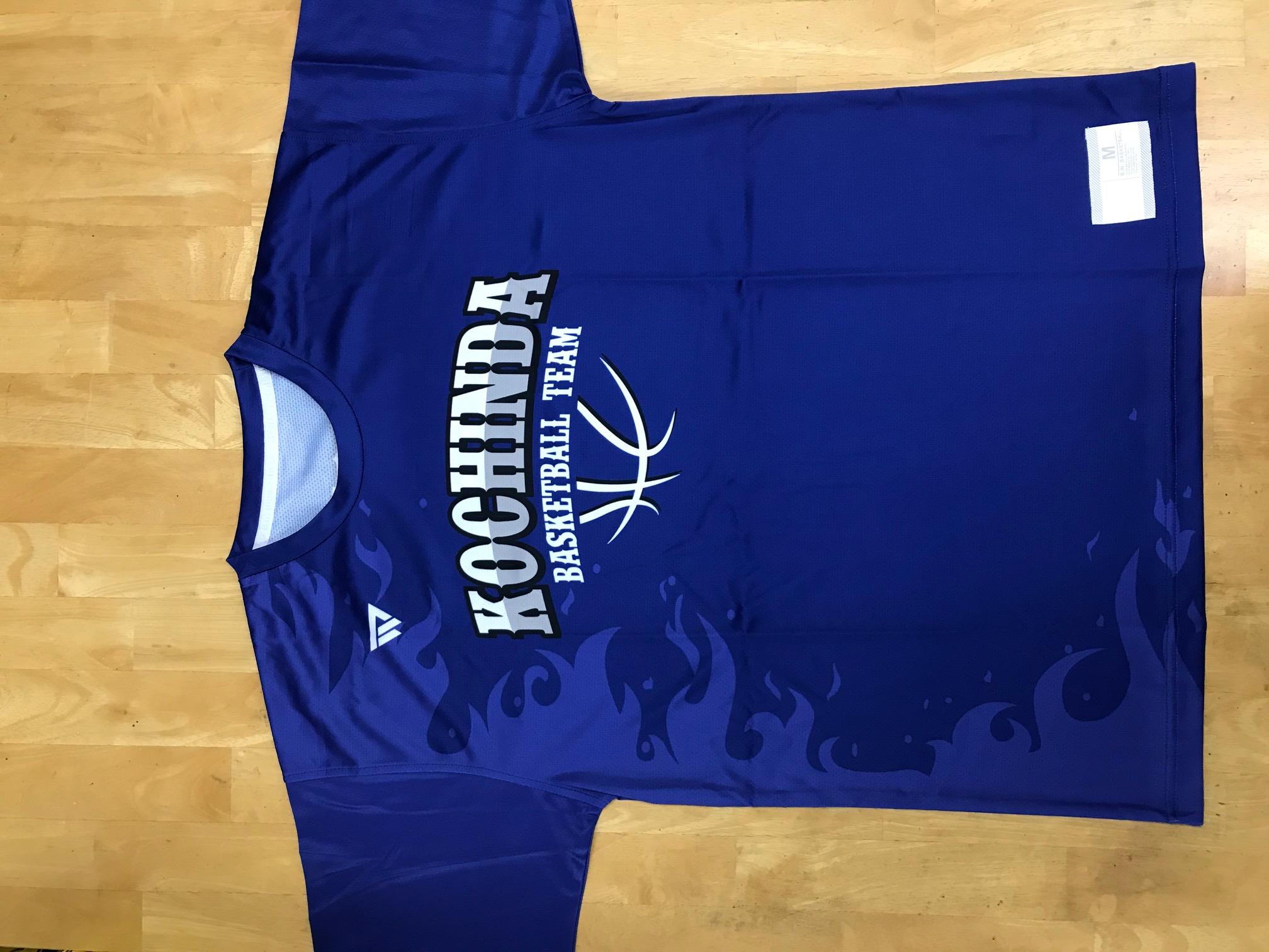 【デザインサンプル】 東風平中男子バスケットボール部(中学校) 昇華Tシャツ