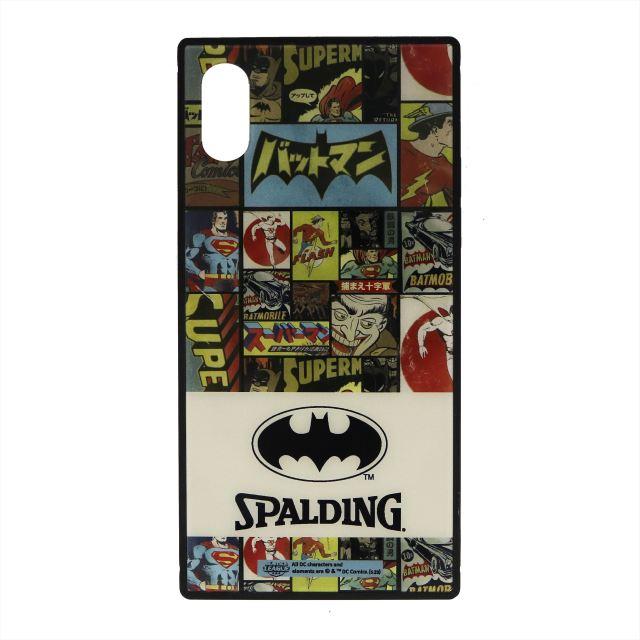 11-010VB / SPALDING /スクエアガラス アイフォンケース ヴィンテージバットマン/スポルディング