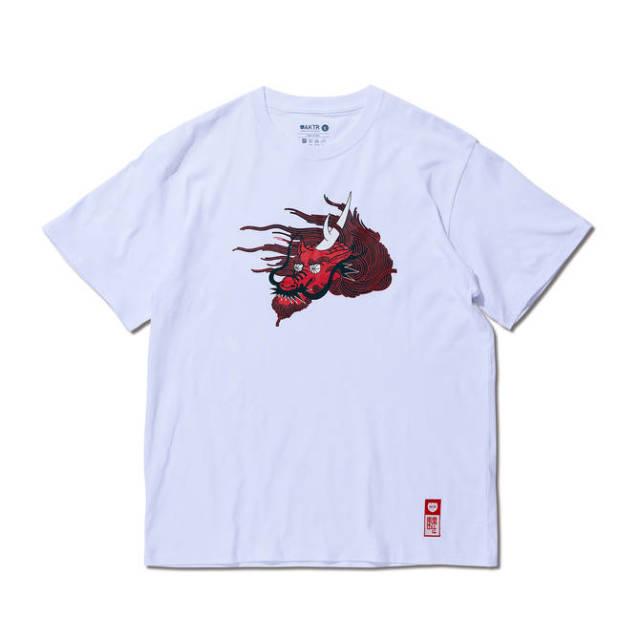 119-103005 / Andrew Kirin FACE TEE / WHITE / Tシャツ / AKTR / アクター / メンズ / バスケットボール