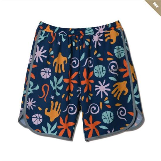 121-065002-nv / AKTR / アクター / パンツ /xMILKFED. BOTANICAL BALL SHORTS NAVY