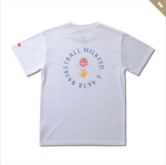 121-066005-wh / AKTR / アクター / Tシャツ / xMILKFED. BOTANICAL BALL SPORTS TEE WHITE