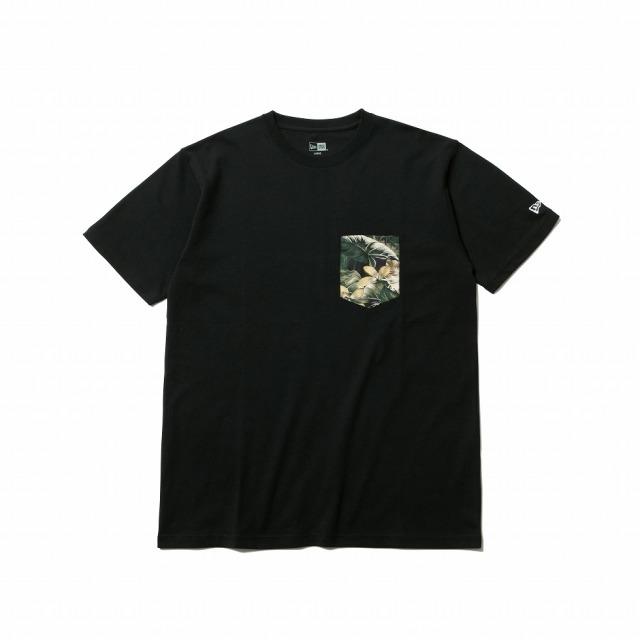 12325121 / NEW ERA / ニューエラ / コットン ポケット Tシャツ /ボタニカル /  ホワイト / Tシャツ/0109SALE