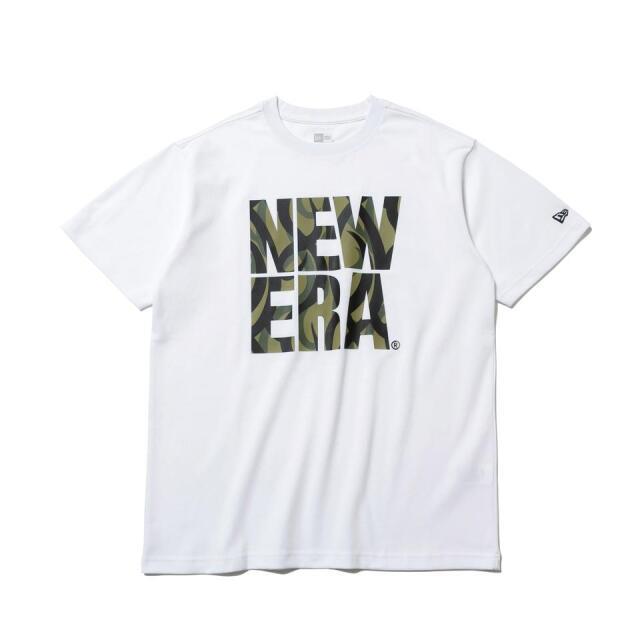 12542595 / NEW ERA / ニューエラ / 半袖 / パフォーマンス Tシャツ / トライバルカモ / スクエアロゴ / レギュラーフィット/0109SALE