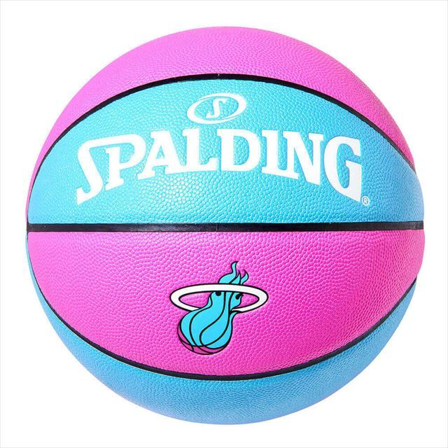 SPALDING / ヒート マイアミ ヴァイス 合成皮革 7号球 NBAロゴ入り 76-792J