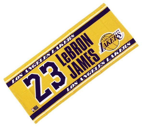 NBA34455 / NBA / ロサンゼルス・レイカーズ / フェイスタオル / #23 JAMES / バスケットボール / タオル
