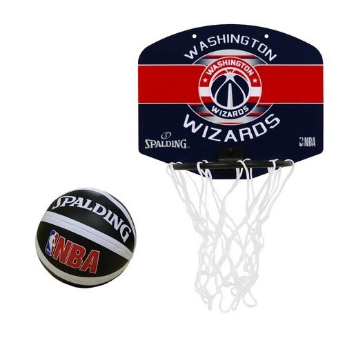 77-674J/ SPALDING /マイクロミニバックボード ウィザーズ NBAロゴ入り バスケットボール / スポルディング