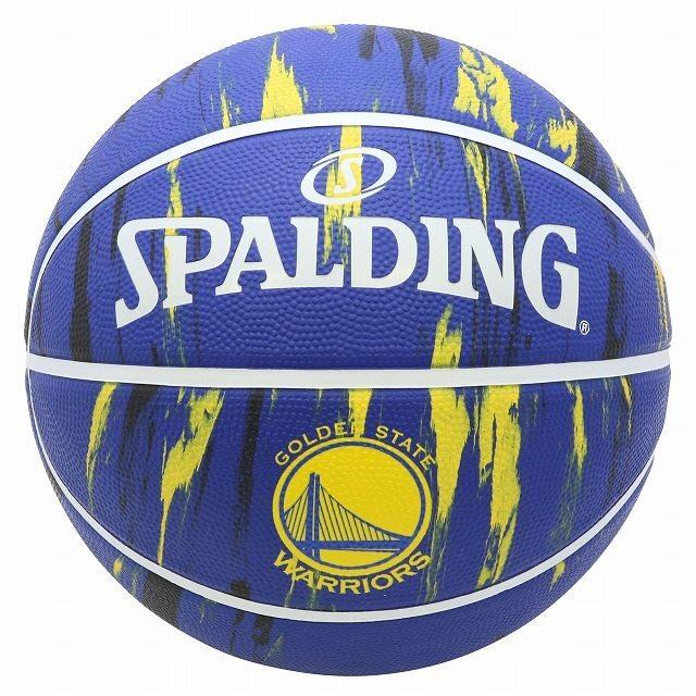 83-929J/ SPALDING /ウォリアーズ マーブル ラバー 5号球 / バスケットボール / スポルディング
