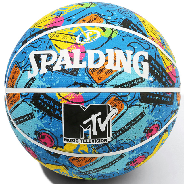 84-064J / SPALDING /MTV ギター ラバー 7号球 / バスケットボール / スポルディング