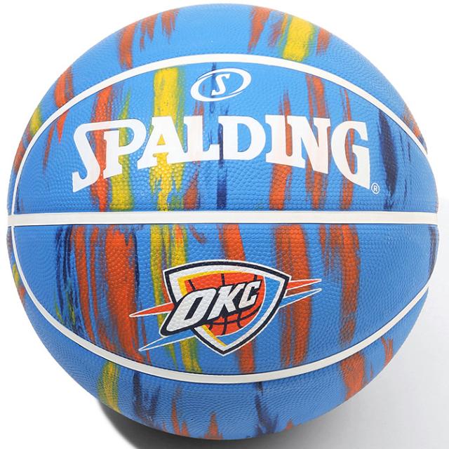 4-097J/ SPALDING / サンダー マーブル ラバー 7号球/ バスケットボール / スポルディング
