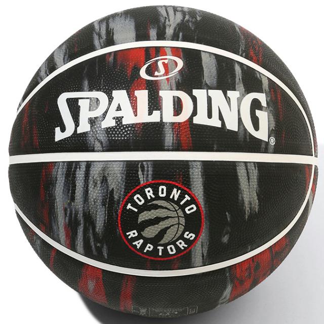 84-098J/ SPALDING / ラプターズ マーブル ラバー 7号球/ バスケットボール / スポルディング